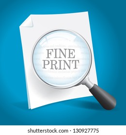 Reading the Fine Print of a Legal Agreement