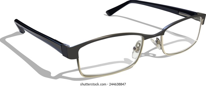Reading Glasses. Layer separated EPS 10 with transparencies.