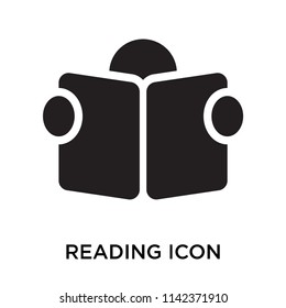 Reading icon vector isolated on white background for your web and mobile app design, Reading logo concept
