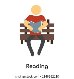 Reading icon vector isolated on white background for your web and mobile app design, Reading logo concept person