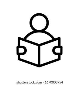Reading icon,vector illustration. Flat design style. vector reading icon illustration isolated on White background, reading icon Eps10. reading icons graphic design vector symbols.
