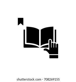 reading instruction icon simple black