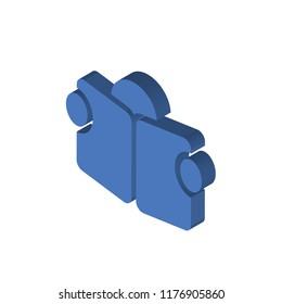 Reading isometric left top view 3D icon