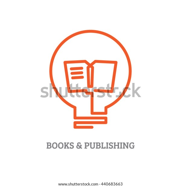 Reading and learning concept icon design