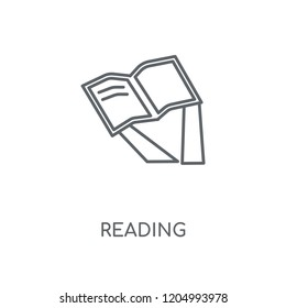 Reading linear icon. Reading concept stroke symbol design. Thin graphic elements vector illustration, outline pattern on a white background, eps 10.