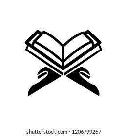 Reading Quran vector icon