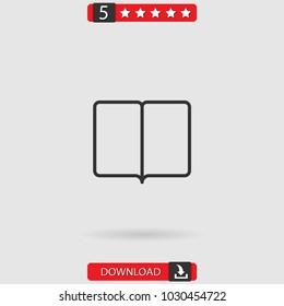 reading vector icon