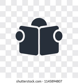Reading vector icon isolated on transparent background, Reading logo concept