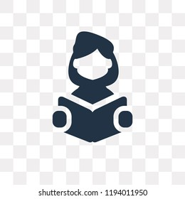 Reading vector icon isolated on transparent background, Reading transparency concept can be used web and mobile