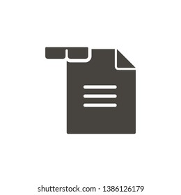 Reading vector icon. Simple element illustrationReading vector icon. Material concept vector illustration.