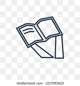 Reading vector outline icon isolated on transparent background, high quality linear Reading transparency concept can be used web and mobile