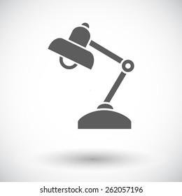 Reading-lamp. Single flat icon on white background. Vector illustration.
