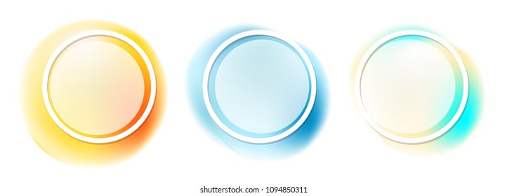 Ready design. Background. Multicolored circles. Without background.