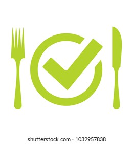 Ready to eat meal vector icon illustration isolated on white background