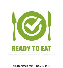 Ready to eat vector icon illustration isolated on white background