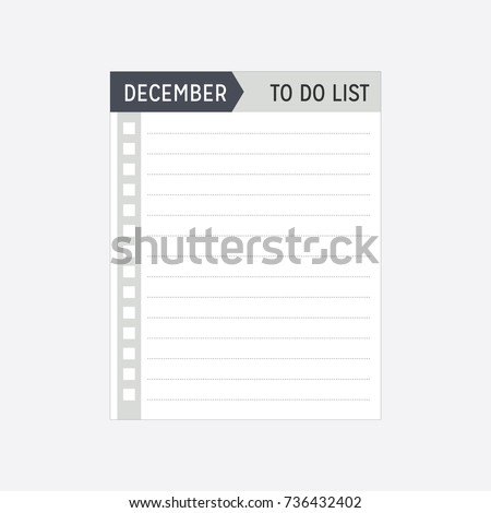 Ready Print December Monthly Yearly Calendar Stock Vector Royalty
