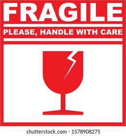 READY TO PRINT - FRAGILE PLEASE HANDLE WITH CARE GLASS MATERIAL