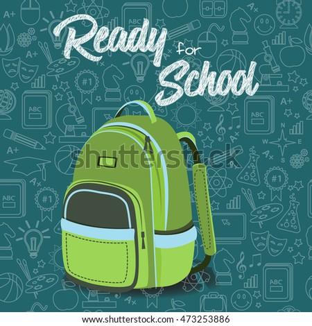 Ready School New School Year Welcoming Stock Vector (Royalty