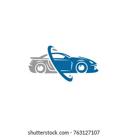 A ready to use template of Sports Car Logo or icon