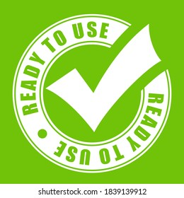 Ready to use vector icon on green background