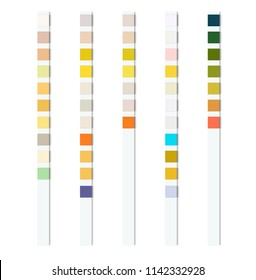 Reagent test strips for urinalysis for an automatic analyzer of physical and chemical properties and cellular composition of urine