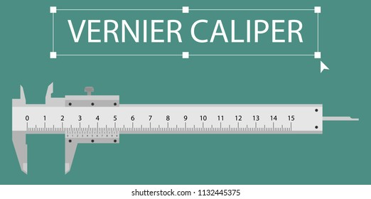 Real Analog Vernier Caliper is the tool for measure small equipment with 3 decimal. Drawing of Vernier Caliper with centimeter unit and millimeter unit.
