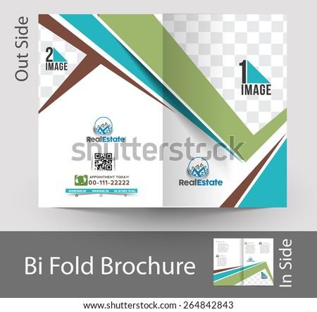 real estate agent bifold brochure mock stock vector royalty free