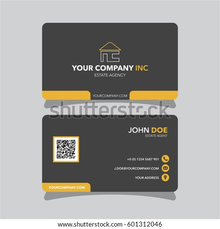 Real estate agent business card template stock vector royalty free real estate agent business card template friedricerecipe Images
