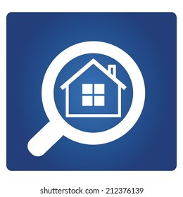 real estate agent, real estate concept with magnifying glass