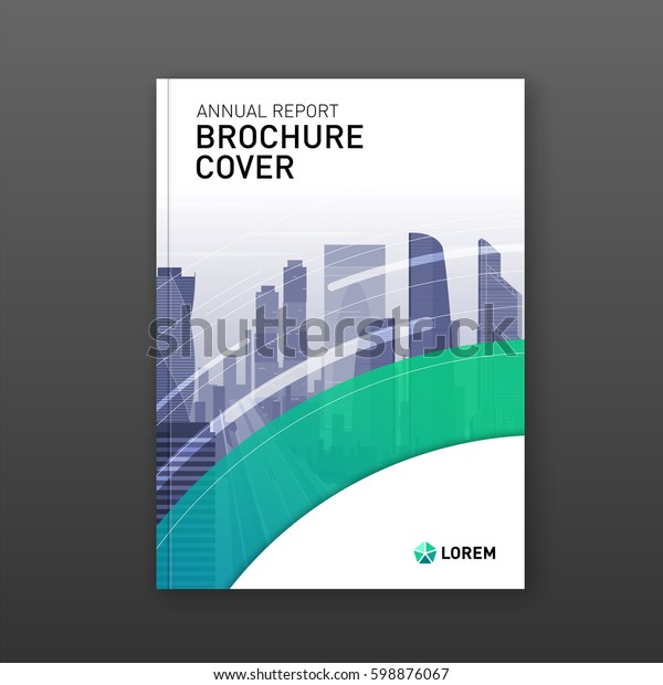 Real estate brochure design. Business brochure cover design layout. Good for corporate catalog, annual report, poster or flyer.