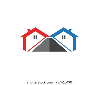 Real estate and building home logo design template