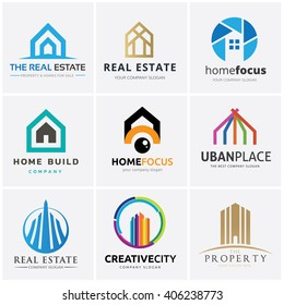 Real Estate and Building logo collection