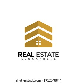 Real Estate Building Logo Design. Creative Idea logos designs Vector illustration template