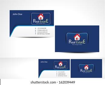 Real Estate Business Card vector illustration