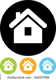 Real estate concept. Small house - Vector icon isolated