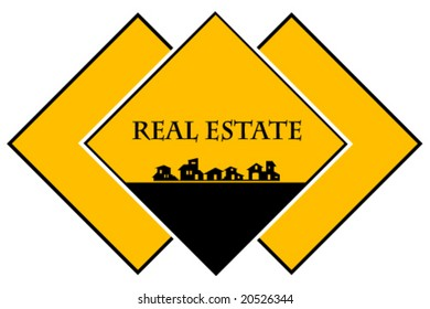 Real estate - construction company. Card Template