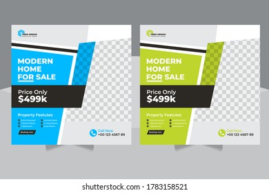 Real estate And Construction social media post, banner and flyer Design, Real Estate Social Media Post Template, Social Media Banners Editable Post Template,