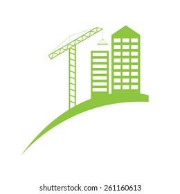 Real estate construction symbol logo template.