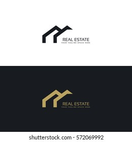 real estate creative logo design in minimal style