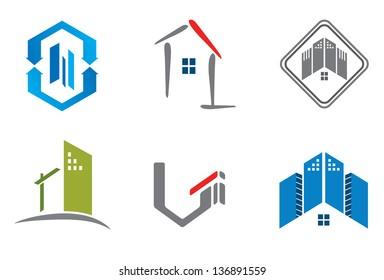 Real estate design elements for logo designing