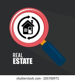 Real estate design over gray background, vector illustration