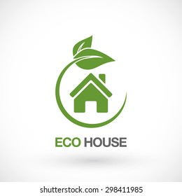 Real Estate, Eco House Logo design vector template.