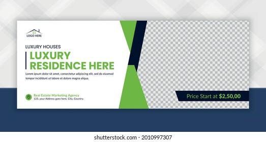 Real estate Facebook timeline cover banner and Digital Marketing web banner