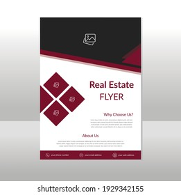 real estate flyer brochure cover one page layout in A4 size