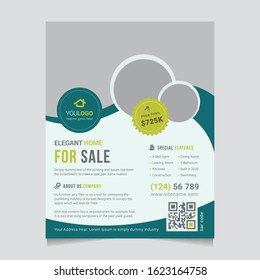 Real Estate Flyer Template, Interior Flyer Design, Real Estate Poster and Brochure Cover Design