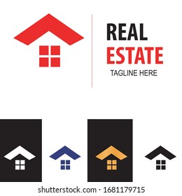 real estate with home icon and logo vector