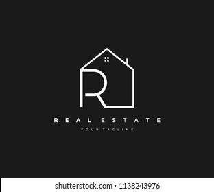 Real Estate Home Logo Letter R