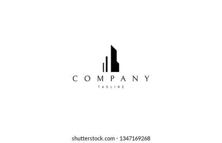 Real estate house architecture vector logo design