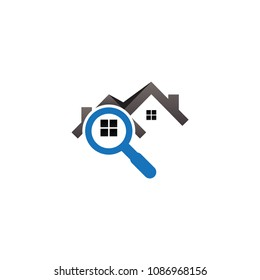 Real estate house finder logo template