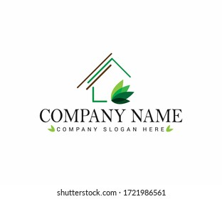 Real Estate House Logo Design Template. Vector
